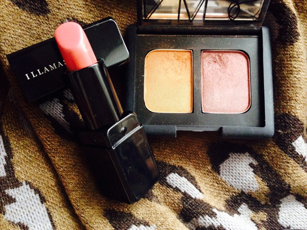 Illamasqua lipstick in Minx and NARS Eyeshadow Duo in Cheyenne